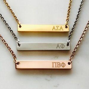 Jewelry - Sorority Bar Necklace